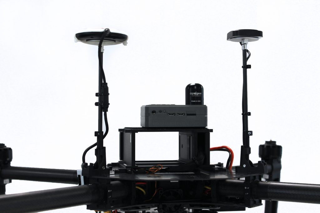 Thermography drone GPS sensors