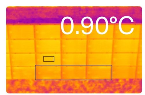 Above uncovers the earliest signs of PID on solar panels