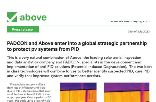 PADCON and Above enter into a global strategic partnership to protect pv systems from PID