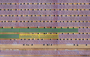 Image showing a solar site in construction using drone imagery